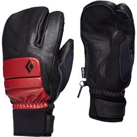 Black Diamond Spark Finger Guanti, nero/rosso